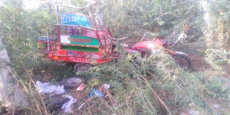 Three school kids among 4 killed as speeding bus rams into rickshaw